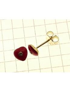 ORECCHINI BIMBA - Orecchini Bimba Bambina  Oro Giallo 18 kt Carati Ct 750 0,95 Gr Cuore