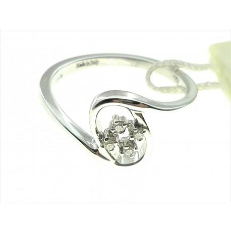ANELLI DIAMANTI - Anello Donna Diamanti Oro Bianco 18 kt Carati 750 3,65 Gr 0,05 CT H IF