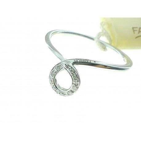 ANELLI DIAMANTI - Anello Donna Diamanti Oro Bianco 18 kt Carati 750 2,60 Gr 0,04 CT H IF