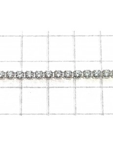 BRACCIALI DONNA - Bracciale Braccialetto Donna Tennis Zirconi Oro Bianco 18 Kt Carati  750 Gr2,25