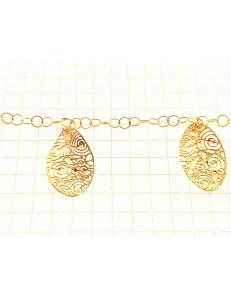 BRACCIALI DONNA - Bracciale Braccialetto Donna Oro Giallo 18 Kt Carati Ct 750 6,50 Gr Charms