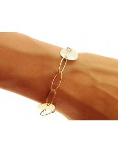 BRACCIALI DONNA - Bracciale Braccialetto Donna Oro Giallo Bianco 18 Kt Carati Ct 750 5,10 Gr