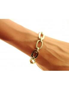BRACCIALI DONNA - Bracciale Braccialetto Donna Oro Giallo 18 Kt Carati Ct 750 Gr 13,10