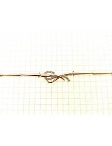 BRACCIALI DONNA - Bracciale Braccialetto Donna Tennis Oro Bianco 18 Kt Carati Ct 750 Gr 8,20
