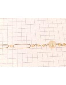 BRACCIALI DONNA - Bracciale Braccialetto Donna Oro Giallo 18 Kt Carati Ct 750 Gr 5,10  Perle