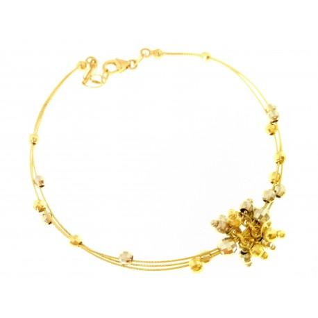 BRACCIALI DONNA - Bracciale Donna Oro Bianco Giallo  18 kt Carati Ct 750 5,80 Gr Semirigido