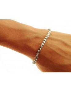 BRACCIALI DONNA - Bracciale Diamanti Donna Tennis Oro Bianco 18 Kt Carati 750 0,40 Ct