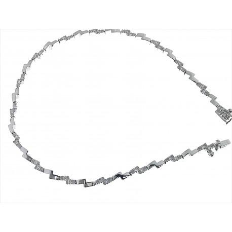 BRACCIALI DONNA - Bracciale Diamanti Donna Tennis Oro Bianco 18 kt Carati 750 7,8 Gr 0,24 Ct