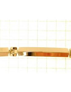 BRACCIALI UNISEX - Bracciale Braccialetto Uomo Donna Unisex Oro Giallo 18 kt Carati Ct 750 8,60 gr