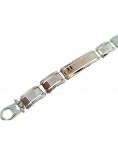 BRACCIALI UNISEX - Bracciale Gr 13,0 Braccialetto Uomo Donna Oro Giallo Bianco 18 kt Carati Ct 750
