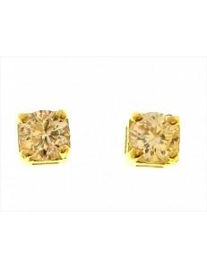 ORECCHINI ORO GIALLO - Orecchini Donna Punto Luce Oro Giallo 18 kt Carati Ct 750 1,55 Gr