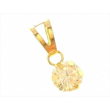 PENDENTI ORO GIALLO - Ciondolo Pendente Donna Oro Giallo 18 Kt Carati Ct 750 0,45 Gr Punto Luce
