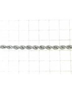 BRACCIALI DONNA - Bracciale Braccialetto Oro Bianco 18 Kt Carati Ct 750 Gr1,25 Donna Corda Funetta
