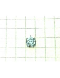 PENDENTI ORO BIANCO - Ciondolo Pendente Donna Oro Bianco 18 Kt Carati 750 0,45 Gr Solitario Punto Luce