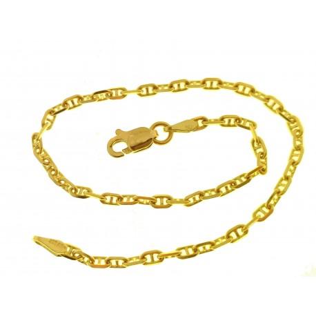 BRACCIALI DONNA - Bracciale Braccialetto Oro Giallo 18 Kt Carati Ct 750 Gr 2,75 Gr Donna