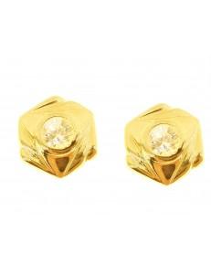 ORECCHINI ORO GIALLO - Orecchini Donna Oro Giallo 18 KT Ct Carati 750 2,60 Gr