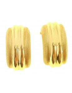 ORECCHINI ORO GIALLO - Orecchini Donna Oro Giallo 18 KT Ct Carati 5,80 Gr Perno Clips