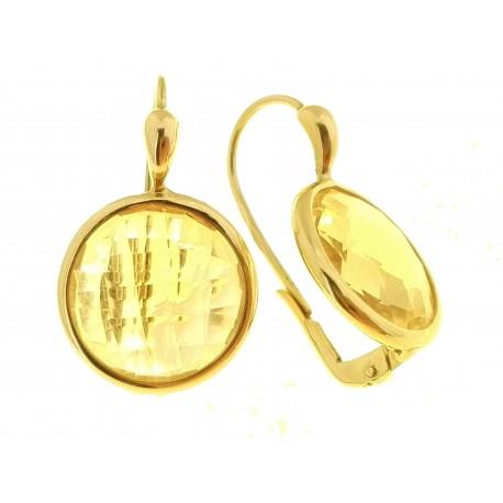 ORECCHINI ORO GIALLO - Orecchini Monachella Monachina Donna Oro Giallo 18 kt Carati Ct 750 7,50 Gr