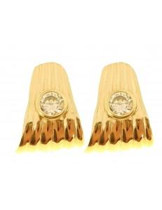 Orecchini Donna Punto Luce Oro Giallo 18 kt Carati Ct 750 2,90 Gr Zirconi