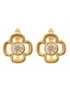 Orecchini Donna Oro Giallo 18 Kt Carati Ct 750 2,40 Gr Monachella Monachina