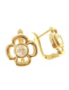 ORECCHINI ORO GIALLO - Orecchini Donna Oro Giallo 18 Kt Carati Ct 750 2,40 Gr Monachella Monachina
