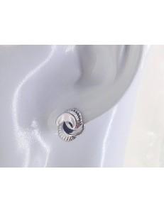 ORECCHINI ORO BIANCO - Orecchini Donna Oro Bianco 18 kt Carati Ct 750 2,90 Gr Monachella Monachina