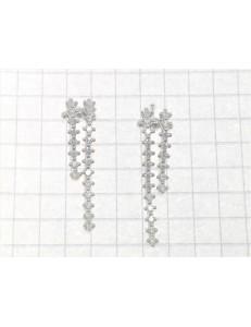 ORECCHINI ORO BIANCO - Orecchini  Donna Oro Bianco 18 kt Carati Ct 750 4,05 Gr Zirconi