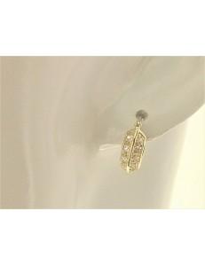 ORECCHINI ORO - Orecchini Cerchio Cerchi Donna Oro Giallo 18 kt Carati Ct 750 4,6 Gr Zirconi