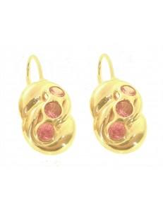 Orecchini Donna Oro Giallo 18 Kt Carati Ct 750 3,80 Gr Monachella Monachina