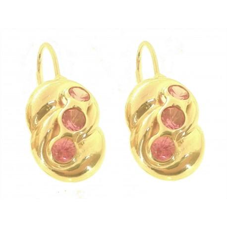 ORECCHINI ORO GIALLO - Orecchini Donna Oro Giallo 18 Kt Carati Ct 750 3,80 Gr Monachella Monachina