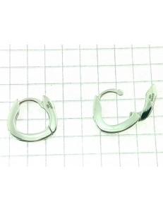 ORECCHINI DIAMANTI - Orecchini Donna Cerchio Diamanti 0,02 Ct Oro Bianco 18 kt Carati 750 3,65gr