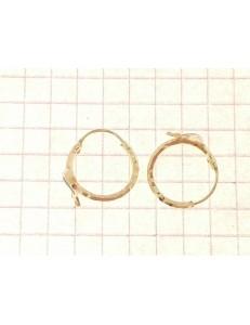 ORECCHINI BIMBA - Orecchini Bimba Bambina Cerchio Oro Giallo 18 kt Carati Ct 750 0,95 Gr