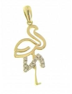 PENDENTI ORO GIALLO - Ciondolo Pendente Donna Oro Giallo 18 Kt Carati Ct 750 2,10 Gr Cigno