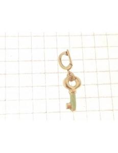 PENDENTI ORO GIALLO - Ciondolo Pendente Donna Oro Giallo 18 Kt Carati Ct 750 1,10 Gr Chiave Fortuna