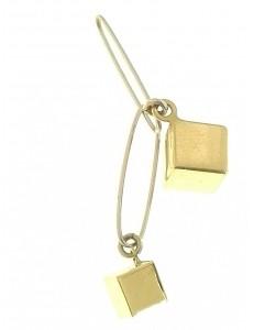 PENDENTI ORO GIALLO - Ciondolo Pendente Donna Oro Giallo Bianco 18 Kt Carati Ct 750 1,80 Gr Dadi