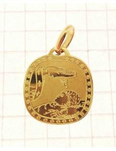 CROCI E SACRI ORO GIALLO - Ciondolo Pendente Fonte Battesimale Bimbo Oro Giallo 18 Kt Carati Ct 750 2,20 Gr