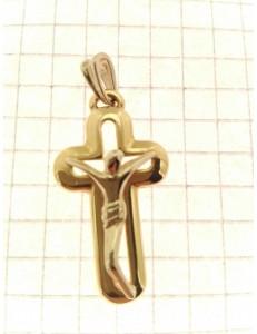 CROCI E SACRI ORO GIALLO - Ciondolo Pendente Croce Crocifisso Uomo Donna Oro Giallo Bianco 18 Kt Carati 750