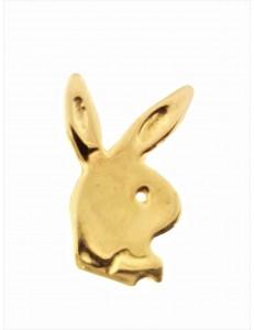 PENDENTI ORO GIALLO - Spilla Playboy Uomo Oro Giallo 18 KT Carati Ct 750 1,30 Gr