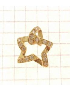 PENDENTI ORO GIALLO - Ciondolo Pendente Donna Ragazza Oro Giallo 18 Kt Carati Ct 750 2,20 Gr Stella