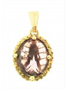 PENDENTI ORO GIALLO - Ciondolo Pendente Donna Oro Giallo 18 Kt CT Carati 750 3,0 Gr Ametista