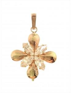 PENDENTI ORO GIALLO - Ciondolo Pendente Donna Ragazza Oro Colore Rame 18 Kt Carati Ct  750 1,20 Gr