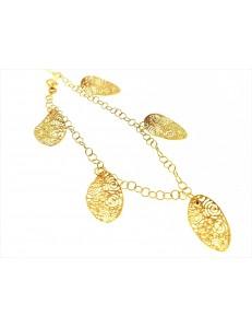Bracciale Braccialetto Donna Oro Giallo 18 Kt Carati Ct 750 6,50 Gr Charms
