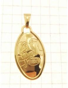 COLLANE UNISEX - Collana Catenina Fonte Battesimale Oro Giallo 18 Kt Carati Ct 750 3,50 Gr