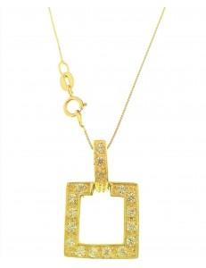 COLLANE ORO GIALLO - Collana Catenina Veneziana Pendente Donna Oro Giallo 18 Kt Carati Ct 750 4,15 Gr