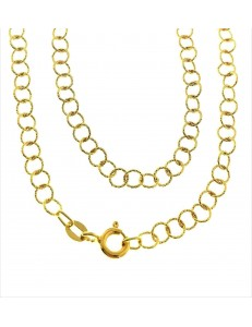 Collana Catenina Girocollo Donna Oro Giallo 18 Kt Carati Ct 750 4,20 Gr