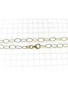 COLLANE ORO GIALLO - Collana Catenina  Donna Oro Giallo Bianco 18 Kt Carati Ct 750 5,60 Gr