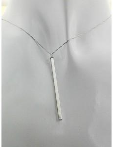 COLLANE ORO BIANCO - Collana Catenina Pendente Donna Ragazza Oro Bianco 18 Kt Carati Ct 750 1,45 Gr
