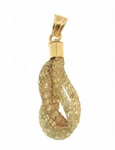 PENDENTI ORO GIALLO - Ciondolo Pendente Donna Oro Giallo Bianco Rosso 18 Kt Carati Ct 750 3,15 Gr
