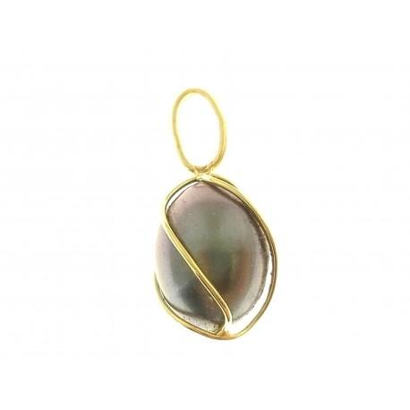 PENDENTI ORO GIALLO - Ciondolo Pendente Donna Oro Giallo 18 Kt Carati Ct 750 0,85 Gr Perla