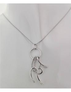 COLLANE  DIAMANTI - Collana Donna Diamanti Oro Bianco 18 kt Carati 750 7,25 Gr 0,14 CT